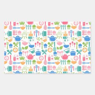 Colorful Cooking Utensils Rectangular Sticker