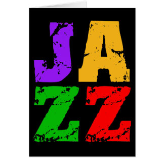 Colorful cool jazz card