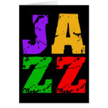 Colorful cool jazz greeting card