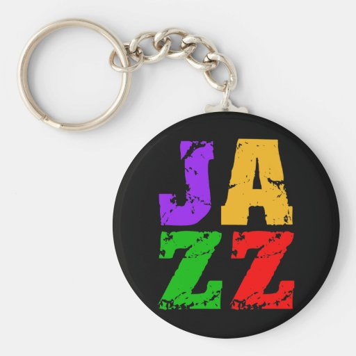 Colorful cool jazz key chain