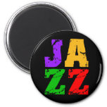 Colorful cool jazz refrigerator magnets