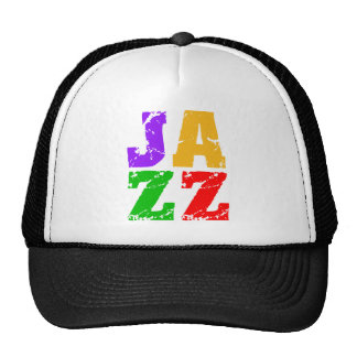 Colorful cool jazz trucker hat