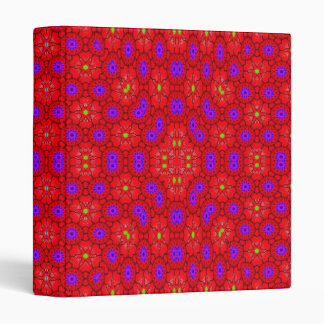 Colorful cool pattern 3 ring binders