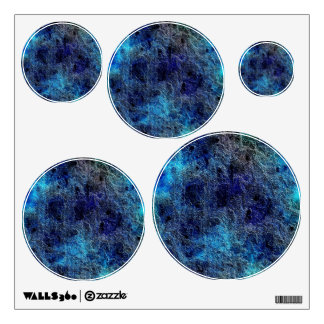 Colorful Cool Rich Jewel Tones Blue Abstract Color Wall Sticker