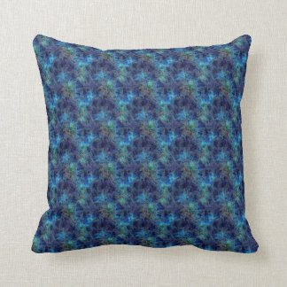 Colorful Cool Rich Jewel Tones Blue Abstract Throw Pillow