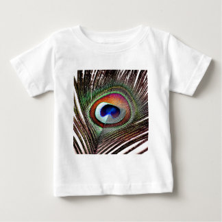 Colorful Copper Peacock Feather Tees