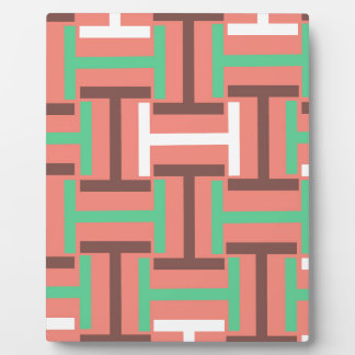 Colorful Coral Mix T Weave Plaque