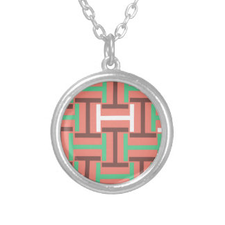 Colorful Coral Mix T Weave Silver Plated Necklace