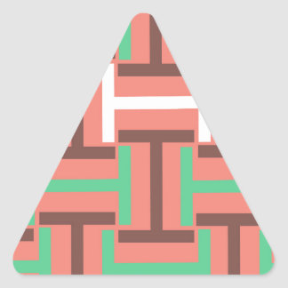 Colorful Coral Mix T Weave Triangle Sticker