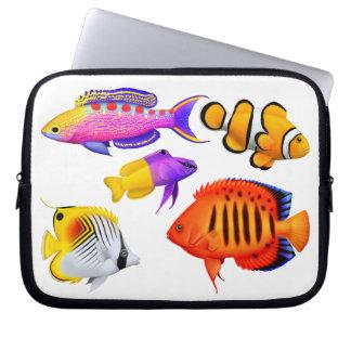 Colorful Coral Reef Aquarium Fish Electronics Bag