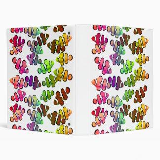 Colorful Coral Reef Clownfish Binder