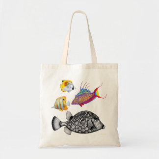 Colorful Coral Reef Fish Bag