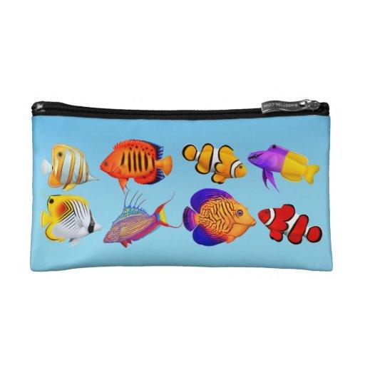 Colorful Coral Reef Fish Bagettes Bag Cosmetic Bag