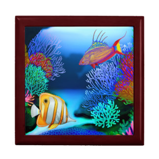 Colorful Coral Reef Fish Gift Box