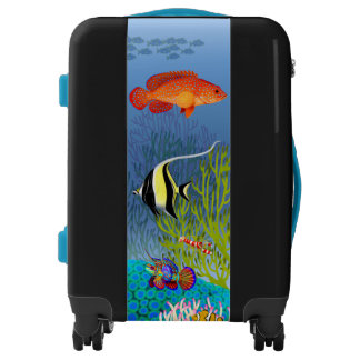 Colorful Coral Reef Fish Luggage