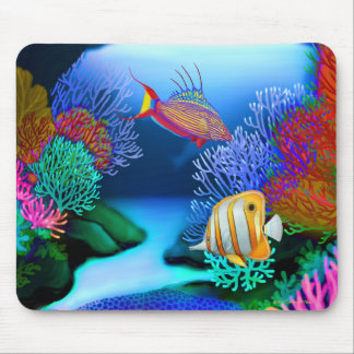 Colorful Coral Reef Fish Mousepad