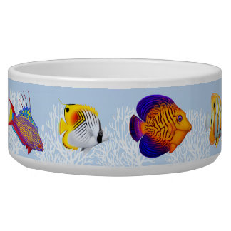 Colorful Coral Reef Fish Pet Bowl