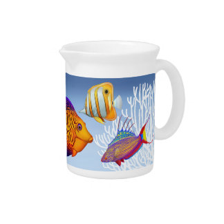 Colorful Coral Reef Fish Pitcher