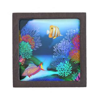 Colorful Coral Reef Fish Premium Gift Box