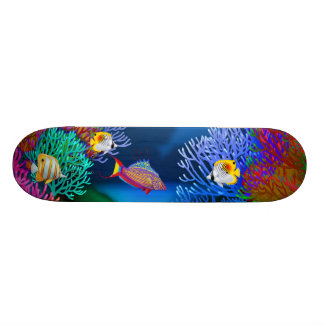 Colorful Coral Reef Fish Skateboard