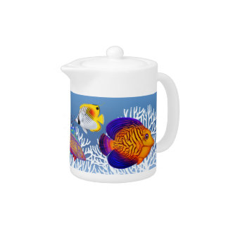 Colorful Coral Reef Fish Teapot