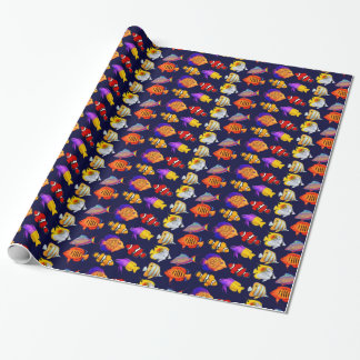 Colorful Coral Reef Fish Wrapping Paper