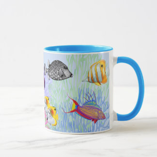 Colorful Coral Reef Fishes Mug