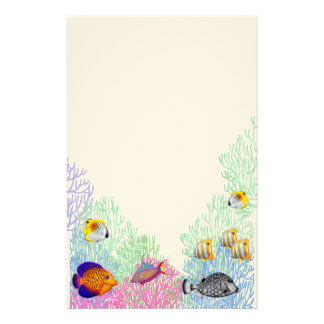Colorful Coral Reef Life Stationery