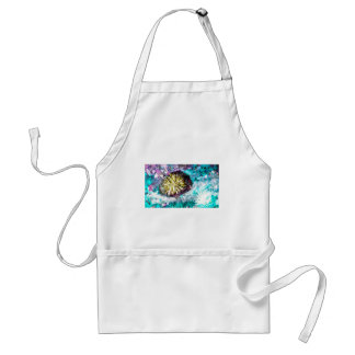 Colorful Coral Reef Sea Urchin Adult Apron