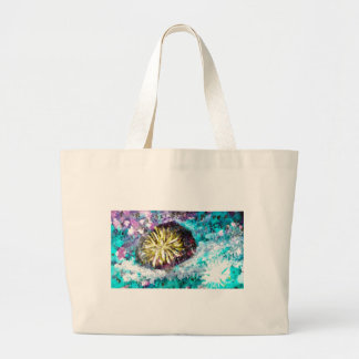 Colorful Coral Reef Sea Urchin Canvas Bag