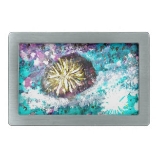 Colorful Coral Reef Sea Urchin Belt Buckle