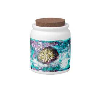 Colorful Coral Reef Sea Urchin Candy Jars