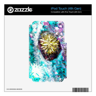 Colorful Coral Reef Sea Urchin iPod Touch 4G Skin