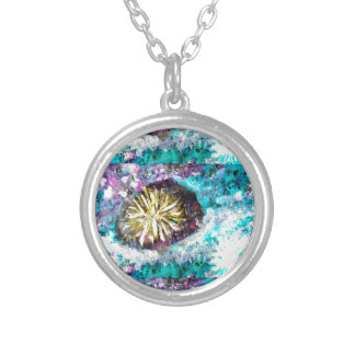 Colorful Coral Reef Sea Urchin Pendant