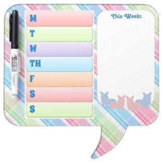 Colorful Corgi Speech Bubble Dry-Erase Board