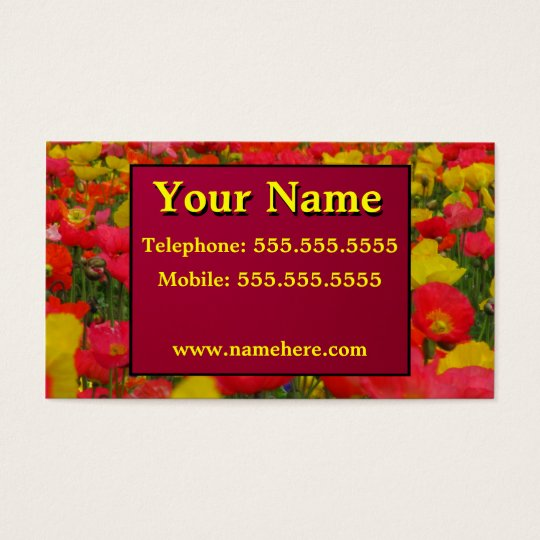 Colorful Corn Poppies Business Card