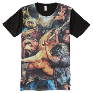 Colorful Cornelius Agrippa Demons Airbrush Art All-Over-Print Shirt