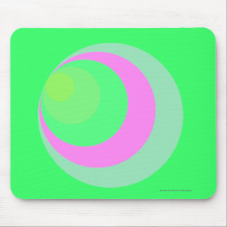 """""""Colorful 'Cornered' Circles"""" - Neon Green Mouse Pad"""