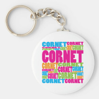 Colorful Cornet Keychain