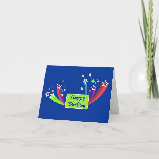 Colorful Corporate Birthday Greeting Card Zazzle