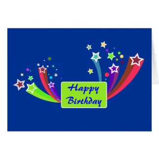 Colorful Corporate Birthday Greeting Card