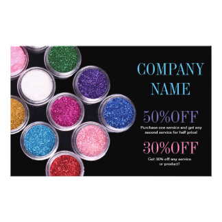 colorful cosmetics SPA beauty salon makeup artist Flyer