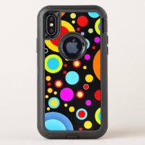 Colorful Cosmic Dot Pattern OtterBox Defender iPhone X Case