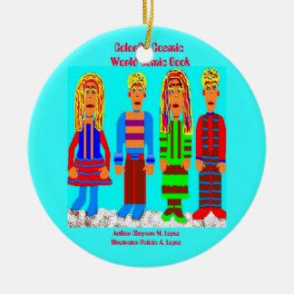 Colorful Cosmic World Comic Book Ornament