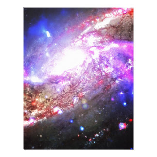 Colorful Cosmos Customized Letterhead