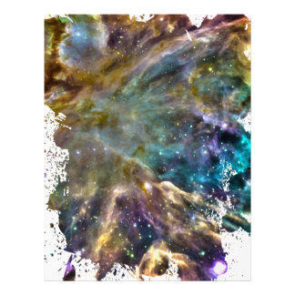 Colorful Cosmos - Space Splatter Customized Letterhead
