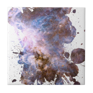 Colorful Cosmos - Space Splatter Tile