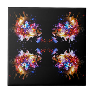 Colorful CosmosColorful Cosmos Ceramic Tile