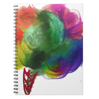 Colorful Cotton Candy Spiral Notebooks
