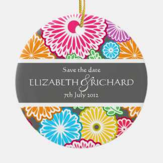 Colorful country flowers and leaves Ornament